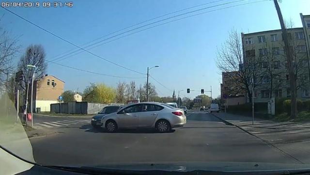 kolizja na skrzyżowaniu w Szczecinie