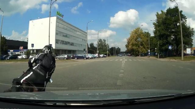 Wypadek motocyklisty w Łodzi