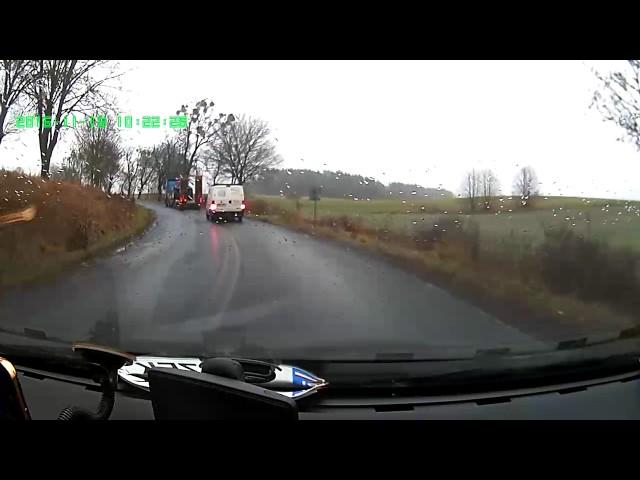 Wypadek drogowy w Prabutach