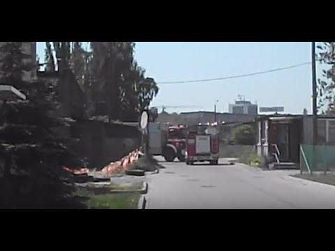 Centymetry od zderzenia wozów strażackich