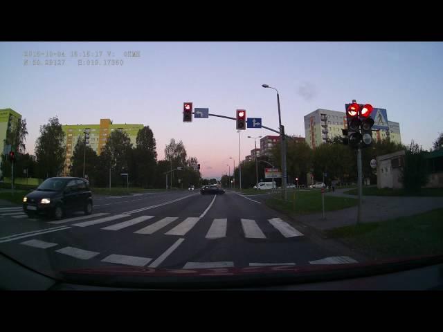 Kolizja na skrzyżowaniu w Sosnowcu