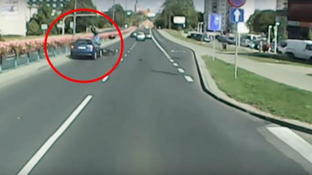 Wypadek skuterzysty w Olsztynie