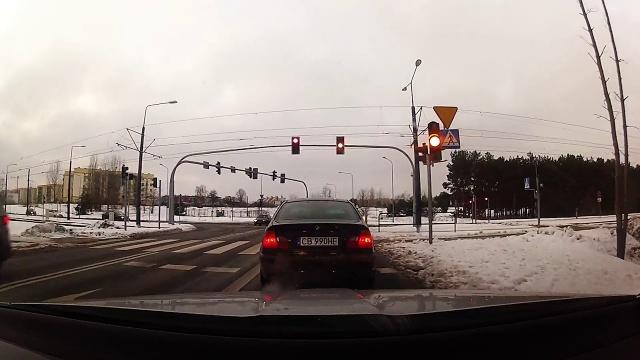 Najechanie na tył BMW