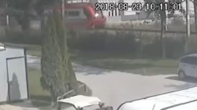 Wypadek na przejeździe kolejowym w Szaflarach.