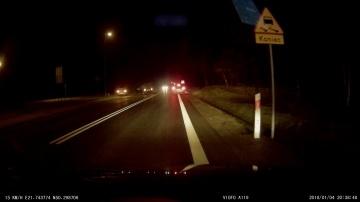 Zderzenie BMW i Seata na DK9