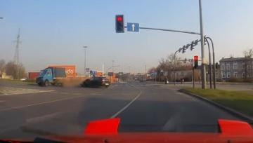 Wypadek na Placu Poznańskim w Bydgoszczy